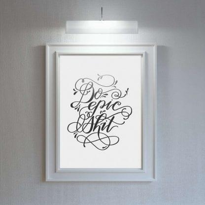 Motivational Inspirational Wall Art Poster Print